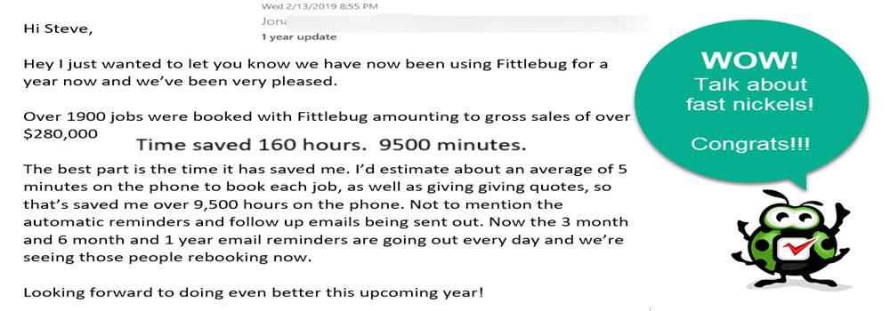 FittleBug Testimonial